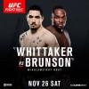Прямая трансляция UFC Fight Night 101: Роберт Уиттакер – Дерек Брансон,  Омари Ахмедов – Кайл Нок