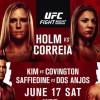 Прямая трансляция UFC Fight Night 111: Холли Холм – Бет Коррейя,  Андрей Орловский – Марчин Тыбура