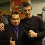 С промоутером Сергеем Степкиным