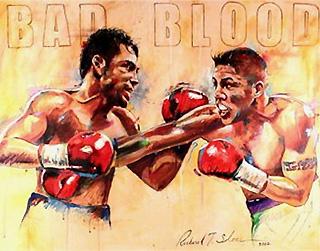 Ричард Слоун посвятил бою между Де Ла Хойей и Варгасом одну из своих работ. Фото: sloneart.com