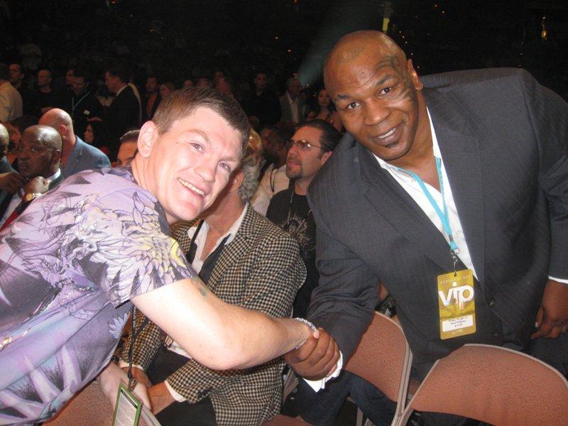 Рикки Хаттон и Майк Тайсон в Лас-Вегасе