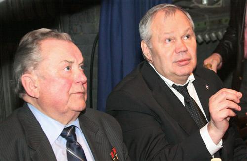 На фото: Попович П.Р. и Агеев В.П. на турнире