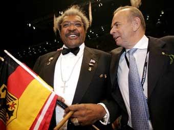 Вилфрид Зауэрланд (справа) и известный американский промоутер Дон Кинг