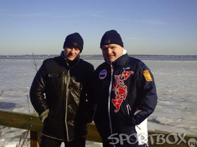 Александр Поветкин и Владимир Хрюнов на Гудзоне