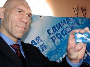 Николай Валуев вступил в партию (1)
