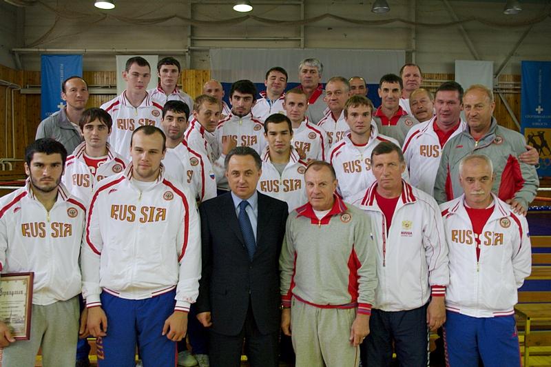 Виталий Мутко посетил сборную России по боксу (1)