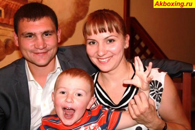 Александр Алексеев с семьей