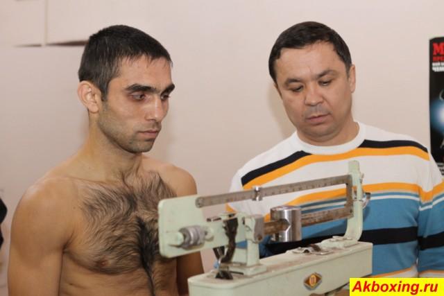 Сахиб Усаров и его тренер Маха Шермат