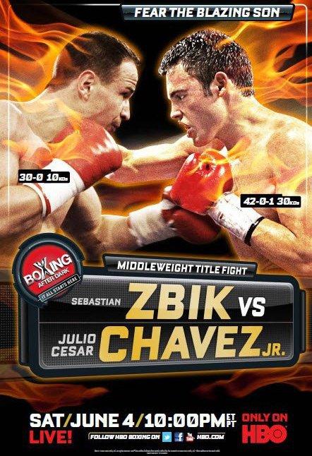 Постер к бою Себастьян Збик - Хулио Сезар Чавес младший (1)