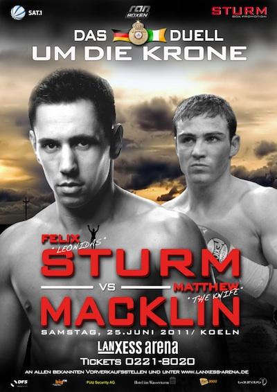 Постер к бою Феликса Штурма с Мэттью Маклином (1)