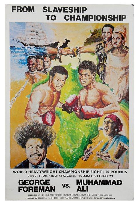 Мохаммед Али - Джордж Форман. Постер к знаменитому бою. (1)