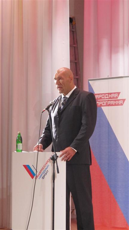 Николай Валуев: Решение идти на выборы в Госдуму было непростым (1)