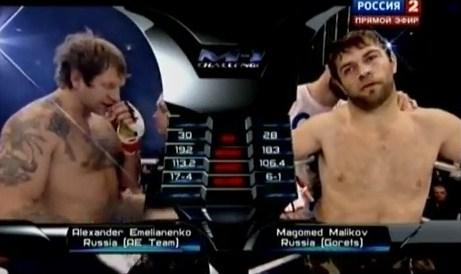 Смотреть онлайн MMA: Aleksander Emelianenko vs Magomed Malikov / Александр Емельяненко - Магомед Маликов