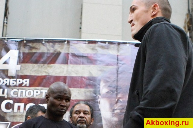 James Toney vs. Denis Lebedev. Official Weigh-In Video
