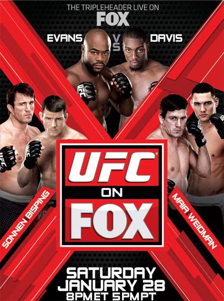 Результаты турнира UFC on FOX: Evans vs. Davis (1)