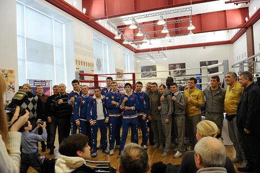 Динамо (Москва) и Milano Thunder посетили Академию Бокса (1)