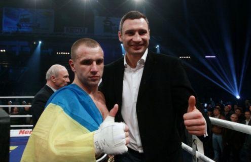 Макс Бурсак и Виталий Кличко
