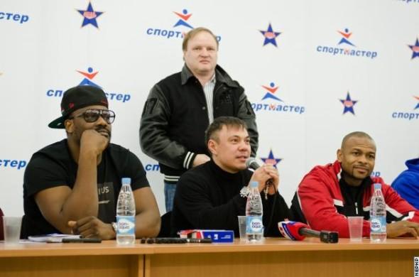 Рой Джонс, Костя Цзю, Дерек Чисора в Москве (1)