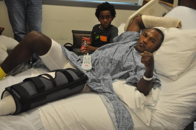Хоан Гузман получил два перелома руки и перелом ноги (1)