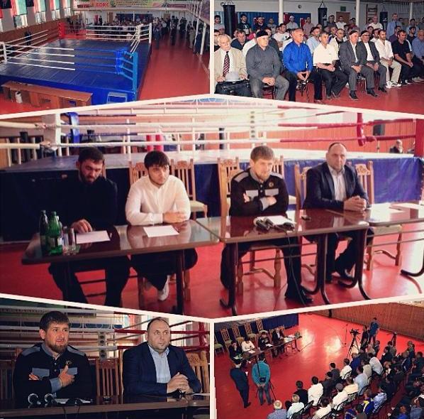 """Рамзан Кадыров объявил об открытии нового боксерского клуба """"Ахмат"""" (1)"""