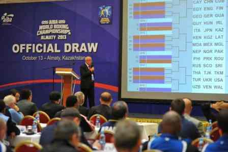 Жеребьевка команд на чемпионате Мира - 2013 в Казахстане (1)