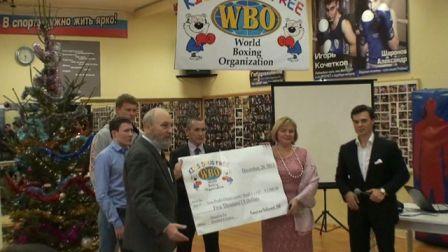 Поветкин, Бахтин и Александров вручили подарки от WBO детям (видео) (1)