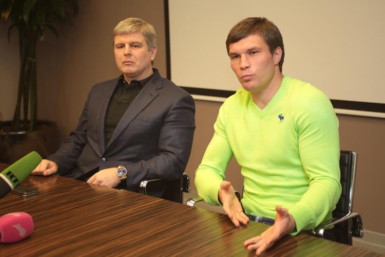 Пресс-конференция Андрея Рябинского и Григория Дрозда (1)