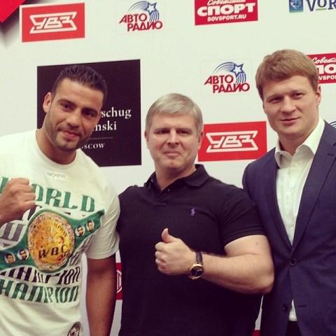 Пресс-конференция Александра Поветкина и Мануэля Чарра (1)