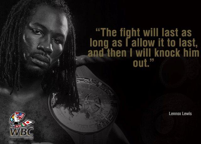 Цитата бокса недели: Леннокс Льюис (1)
