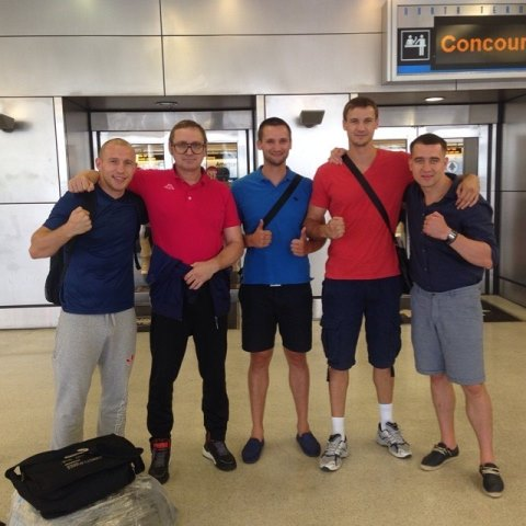 Российские боксеры, Василий Лепихин и Дмитрий Михайленко, прибыли в США (1)
