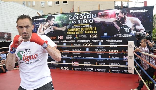 Геннадий Головкин и Рубио провели открытую тренировку (2)