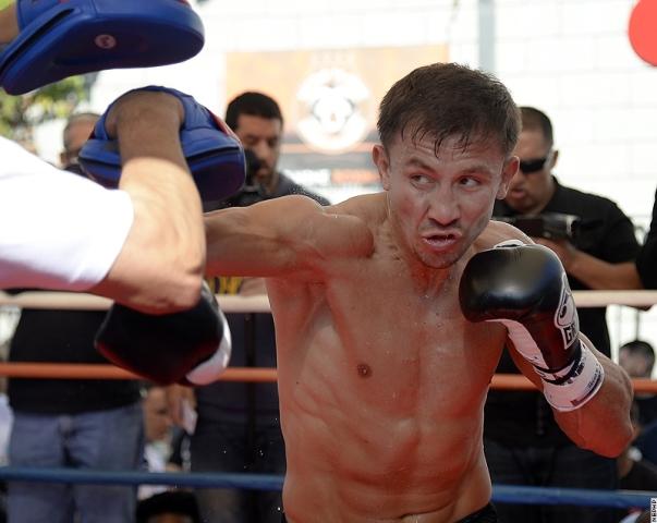 Геннадий Головкин и Рубио провели открытую тренировку (1)