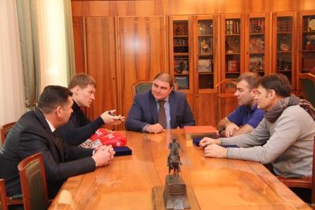 Александр Поветкин и Михаил Пореченков встретились с губернатором Орловской области (1)