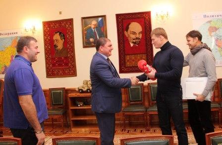 Александр Поветкин и Михаил Пореченков встретились с губернатором Орловской области (2)