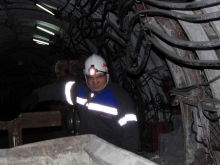 Олег Маскаев стал шахтером (1)