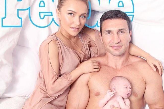 Владимир Кличко показал миру свою новорожденную дочь (3)