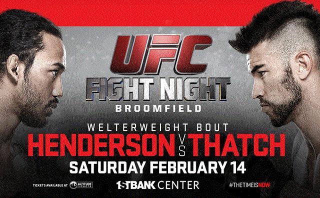 Прямая трансляция UFC: Бенсон Хендерсон против Брэндона Татча (1)