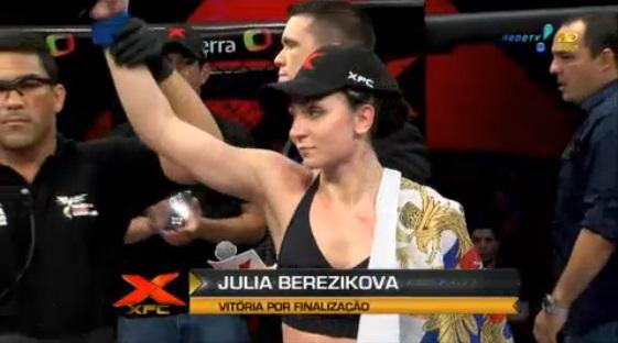 Юлия Березикова досрочно победила в Бразилии Джулиану Вернер  (2)