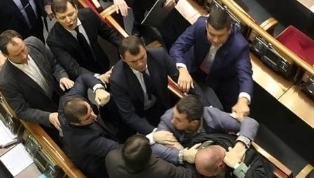 В Верховной раде Украины могут установить боксерский ринг (1)