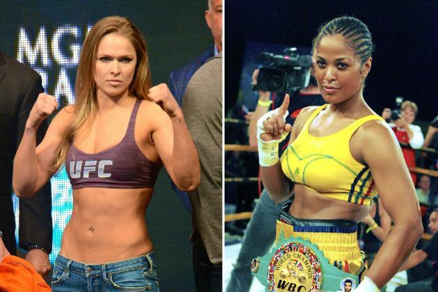 Чемпионка UFC Ронда Роузи против чемпионки Мира по боксу Лейлы Али (1)