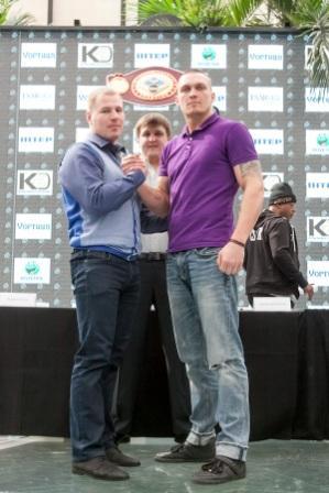 Пресс-конференция Александра Усика и Андрея Князева (2)