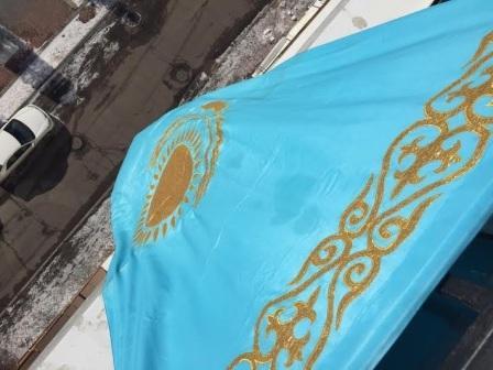 Жителя Астаны оштрафовали на 135 тысяч рублей за флаг, вывешенный в честь Геннадия Головкина (1)