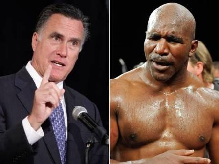 Кандидат в президенты США Митт Ромни выйдет на ринг против Эвандера Холифилда (1)