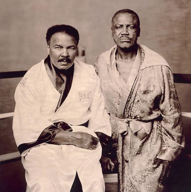 Мохаммед Али и Джо Фрезер на одной фотографии (1)
