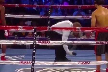 У боксера во время боя из трусов выпал телефон! (1)