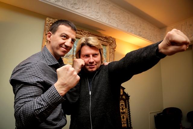 Боксер Александр Колесников и певец Николай Басков (1)