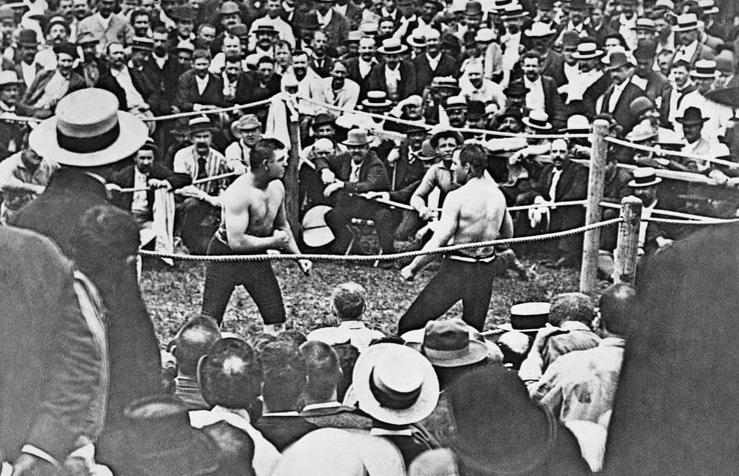 Бокс в этот день: Джон Салливан нокаутировал Джейка Килрейна в 75 раунде! (2)