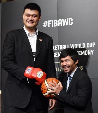 Мэнни Пакьяо против китайского великана Яо Мина (2)