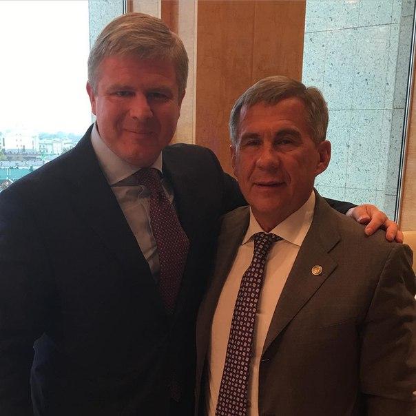 Андрей Рябинский встретился с президентом Татарстана, Рустамом Миннихановым (1)