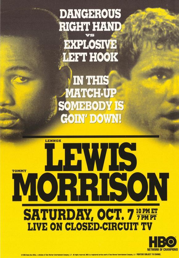 Бокс в этот день: Как Леннокс Льюис нокаутировал Томми Моррисона (1)